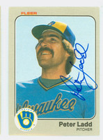 Pete Ladd AUTOGRAPH 1983 Fleer #37 Brewers 
