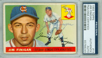 Jim Finigan AUTOGRAPH d.81 1955 Topps #14 Athletics PSA/DNA CARD IS CLEAN VG