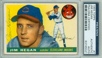 Jim Hegan AUTOGRAPH d.84 1955 Topps #7 Indians PSA/DNA CARD IS CLEAN VG