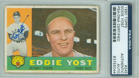 Eddie Yost AUTOGRAPH d.12 1960 Topps #245 Tigers PSA/DNA 