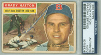 Grady Hatton AUTOGRAPH d.13 1956 Topps #26 Red Sox PSA/DNA CARD IS F/G; LT CREASES