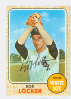 Bob Locker AUTOGRAPH 1968 Topps #51 White Sox 