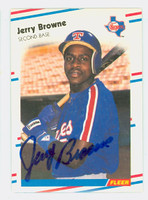 Jerry Browne AUTOGRAPH 1988 Fleer Rangers 