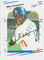 Mike Devereaux AUTOGRAPH 1988 Fleer Dodgers 