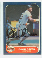 David Green AUTOGRAPH 1986 Fleer Giants 