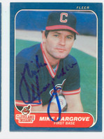 Mike Hargrove AUTOGRAPH 1986 Fleer Indians 