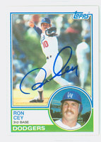 Ron Cey AUTOGRAPH 1983 Topps #15 Dodgers 