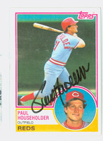 Paul Householder AUTOGRAPH 1983 Topps #34 Reds 