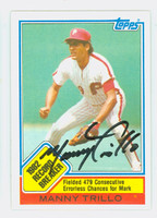 Manny Trillo RB AUTOGRAPH 1983 Topps Record Breaker #5 Phillies 