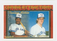 Domingo Cedeno AUTOGRAPH 1994 Topps Coming Attractions Blue Jays 