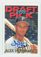 Alex Hernandez AUTOGRAPH 1995 Topps Draft Pick Pirates 