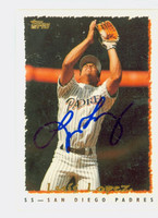 Luis Lopez AUTOGRAPH 1995 Topps Padres 