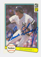 Rich Gossage AUTOGRAPH 1982 Donruss #283 Yankees 