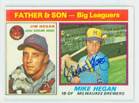 Mike Hegan AUTOGRAPH d.13 1976 Topps #69 Father Son 