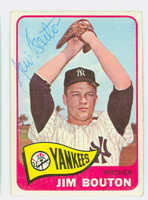 Jim Bouton AUTOGRAPH 1965 Topps #30 Yankees Card is Vg/Ex; Auto clean