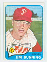 Jim Bunning AUTOGRAPH 1965 Topps #20 Phillies Card is clean Ex/Mt