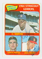Dean Chance AUTOGRAPH d.15 1965 Topps AL Strikeout Leaders #11 Angels PERS; Card is G/VG