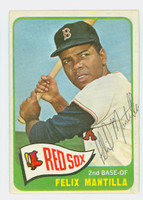 Felix Mantilla AUTOGRAPH 1965 Topps #29 Red Sox Card is clean EX