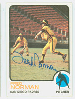 Fred Norman AUTOGRAPH 1973 Topps Padres   [SKU:NormF1129_T73BBax]