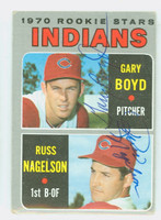 Boyd-Nagelson DUAL SIGNED 1970 Topps Indians Rookies #7 Indians 