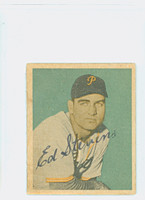 Ed Stevens AUTOGRAPH d.12 1949 Bowman Pirates CARD IS CLEAN EX