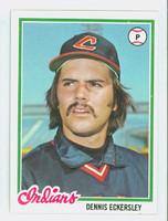 1978 Topps Baseball 122 Dennis Eckersley Cleveland Indians Excellent