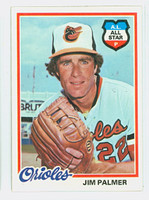 1978 Topps Baseball 160 Jim Palmer Baltimore Orioles Near-Mint Plus