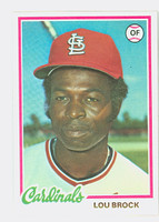 1978 Topps Baseball 170 Lou Brock St. Louis Cardinals Near-Mint Plus