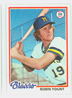 1978 Topps Baseball 173 Robin Yount Milwaukee Brewers Near-Mint Plus