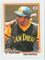 1978 Topps Baseball 530 Dave Winfield San Diego Padres Near-Mint Plus