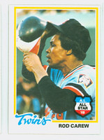 1978 Topps Baseball 580 Rod Carew Minnesota Twins Excellent to Mint