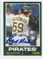 Rob Mackowiak AUTOGRAPH 2002 Upper Deck Vintage 1971 Design Pirates 