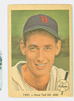 1959 Fleer Ted Williams 17 How Ted Hit .400 Fair to Good