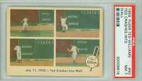 1959 Fleer Ted Williams 40 Crashes into Wall PSA 7 Near Mint