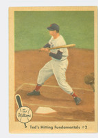 1959 Fleer Ted Williams 72 Hitting Fundamentals 2 Good to Very Good