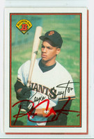 Royce Clayton AUTOGRAPH 1989 Bowman Giants 