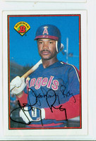 Johnny Ray AUTOGRAPH 1989 Bowman Angels 