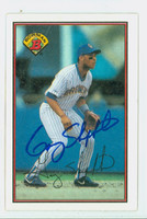 Gary Sheffield AUTOGRAPH 1989 Bowman Brewers 