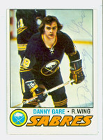 Danny Gare AUTOGRAPH 1977-78 Topps Sabres 
