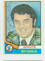 Bep Guidolin AUTOGRAPH d.08 1974-75 Topps Hockey Scouts 