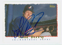 Sean Berry AUTOGRAPH 1995 Topps Expos 