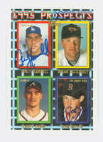 Greg Hansell DUAL SIGNED 1995 Topps Prospects Dodgers 
