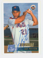 Jay Payton AUTOGRAPH 1996 Topps Mets 