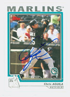 Chris Aguila AUTOGRAPH 2004 Topps Marlins 