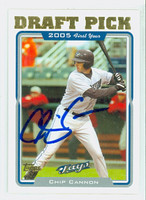 Chip Cannon AUTOGRAPH 2005 Topps Blue Jays 