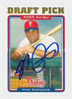 Mike Costanzo AUTOGRAPH 2005 Topps Update Draft Pick Phillies   [SKU:CostM25294_T05BBUPLG]