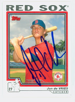 Jon De Vries AUTOGRAPH 2004 Topps Traded Red Sox 