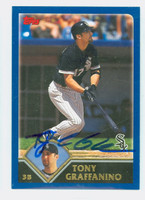Tony Graffanino AUTOGRAPH 2003 Topps White Sox 
