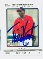 Torii Hunter AUTOGRAPH 2009 Topps Ticket To Stardom Angels 