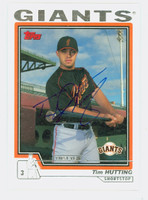 Tim Hutting AUTOGRAPH 2004 Topps Traded Giants 
